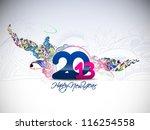 new year 2013 in white...   Shutterstock .eps vector #116254558