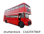 red london traditional bus... | Shutterstock . vector #1162547869