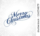 merry christmas. vector. | Shutterstock .eps vector #116254879