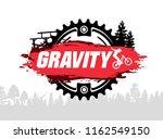 extreme mountain biking design. ... | Shutterstock .eps vector #1162549150