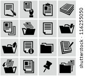 document icons | Shutterstock .eps vector #116255050
