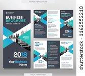 business brochure template in... | Shutterstock .eps vector #1162552210