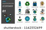 filled outline style icon pack... | Shutterstock .eps vector #1162552699