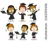 group of happy international... | Shutterstock .eps vector #1162554106