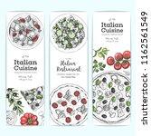 italian cuisine banner set. a... | Shutterstock .eps vector #1162561549