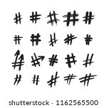 hashtag signs. number sign ...   Shutterstock .eps vector #1162565500