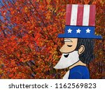 figure of uncle sam conway  ...   Shutterstock . vector #1162569823