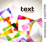 colorful abstract cubes | Shutterstock .eps vector #116257090