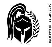 sign of black spartan helmet on ... | Shutterstock .eps vector #1162571050