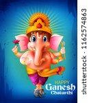 happy ganesh chaturthi festival ... | Shutterstock .eps vector #1162574863