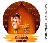 happy ganesh chaturthi festival ... | Shutterstock .eps vector #1162574899