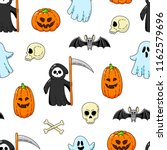 happy halloween. seamless... | Shutterstock .eps vector #1162579696