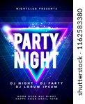 vector illustration dance party ... | Shutterstock .eps vector #1162583380