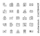 collection of 25 address... | Shutterstock .eps vector #1162584439