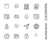 collection of 16 www outline... | Shutterstock .eps vector #1162584556