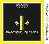 inward pointing arrows vector... | Shutterstock .eps vector #1162590469