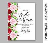 wedding invitation card vector... | Shutterstock .eps vector #1162595926