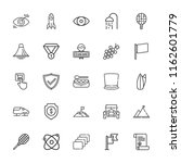 collection of 25 emblem outline ... | Shutterstock .eps vector #1162601779