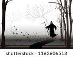 vector angel of death | Shutterstock .eps vector #1162606513