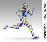 runner colorful vector... | Shutterstock .eps vector #1162607500