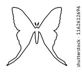 comet moth vector icon isolated ...   Shutterstock .eps vector #1162612696