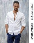 portrait of handsome man in... | Shutterstock . vector #1162618363