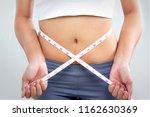 slim body dieting. lifestyle... | Shutterstock . vector #1162630369