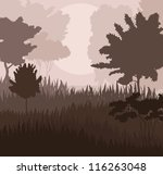 Natural landscape vector background - stock vector
