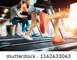 picture of people running on... | Shutterstock . vector #1162633063