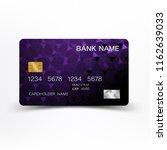 modern credit card template... | Shutterstock .eps vector #1162639033