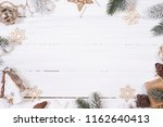 christmas composition. top view ... | Shutterstock . vector #1162640413