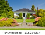 luxury house at sunny day in... | Shutterstock . vector #116264314