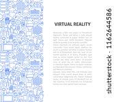 virtual reality line pattern... | Shutterstock .eps vector #1162644586
