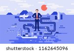 logistics manager businessman... | Shutterstock .eps vector #1162645096