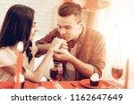 couple romantic dinner at...   Shutterstock . vector #1162647649
