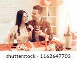 couple romantic dinner at...   Shutterstock . vector #1162647703