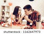 couple romantic dinner at...   Shutterstock . vector #1162647973