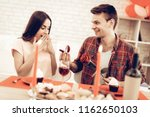 a guy gives a ring to...   Shutterstock . vector #1162650103