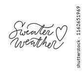 handwritten autumn season...   Shutterstock .eps vector #1162651969