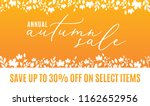 annual autumn sale save up to... | Shutterstock .eps vector #1162652956