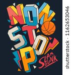 basketball slogan vector design ... | Shutterstock .eps vector #1162653046