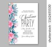 winter floral vector background ... | Shutterstock .eps vector #1162655530
