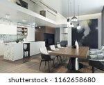 modern  elegant and spacious... | Shutterstock . vector #1162658680