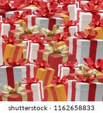 gifts presents boxes 3d... | Shutterstock . vector #1162658833