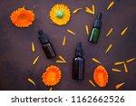 marigold or calendula essential ... | Shutterstock . vector #1162662526