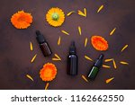 marigold or calendula essential ... | Shutterstock . vector #1162662550