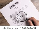 resume close up. the concept of ... | Shutterstock . vector #1162664680