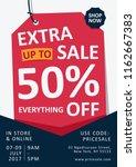 weekend extra sale flyer | Shutterstock .eps vector #1162667383