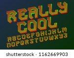 really cool alphabet. gaming... | Shutterstock .eps vector #1162669903