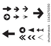arrow icon set isolated on... | Shutterstock .eps vector #1162670350